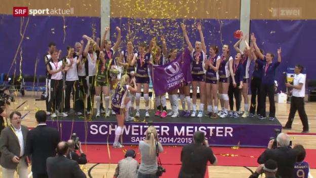 Video «Volleyball: 3. Playoff-Final Volero Zürich - Köniz» abspielen