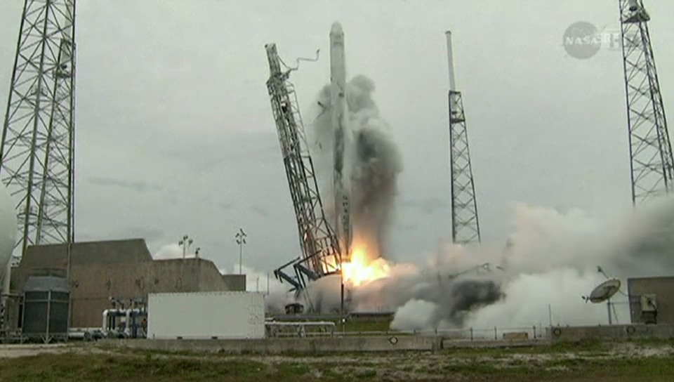 Start des «Dragon»-Frachters in Cape Canaveral (unkomm.)