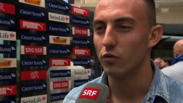Video «Fussball: Josip Drmic vor dem Zypern-Spiel» abspielen