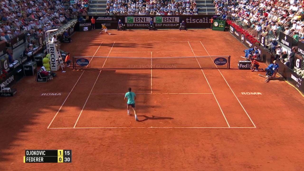 Tennis: ATP Rom, Final, Federer - Djokovic