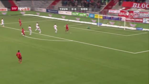 Video «Fussball: Thun - Sion» abspielen