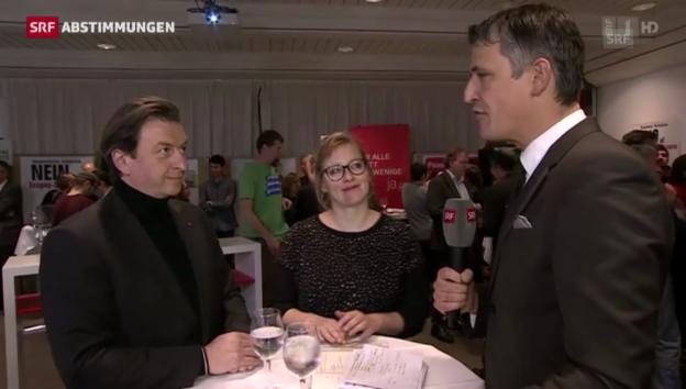 Video «Interview mit Corrado Pardini (SP) und Aline Trede (Grüne)» abspielen