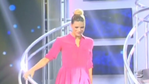 Video «Michelle Hunzikers TV-Comeback bei «Striscia la notizia»» abspielen
