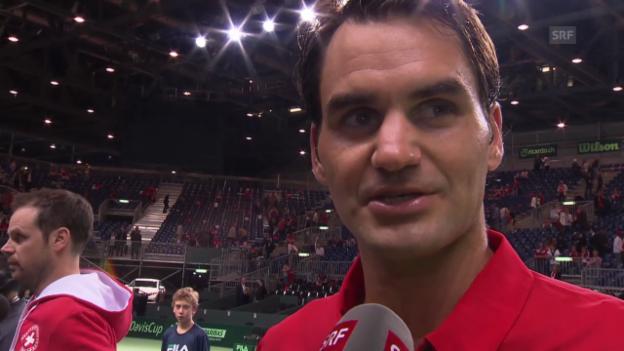 Video «Roger Federer: «Es war wichtig, ruhig zu bleiben»» abspielen