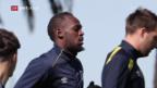 Video «Sprinter Usain Bolt wechselt den Sport» abspielen