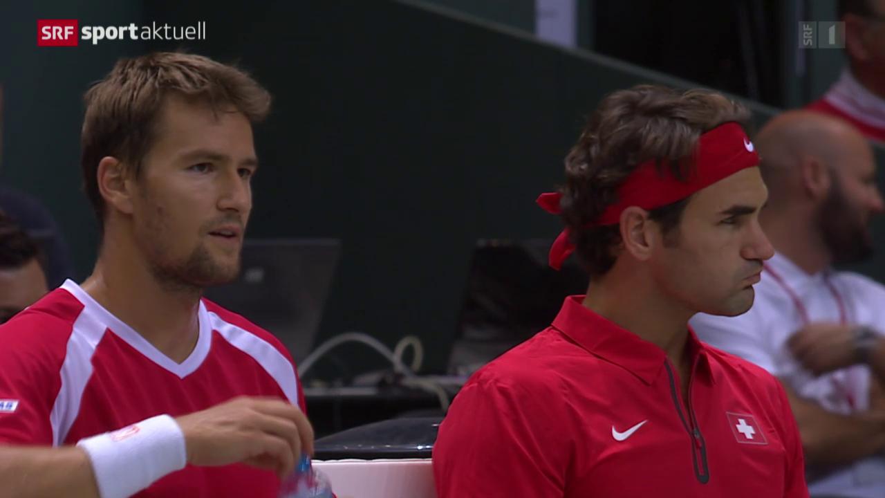 Tennis: Davis Cup, Schweiz-Niederlande, Doppel