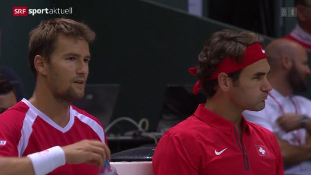 Video «Tennis: Davis Cup, Schweiz-Niederlande, Doppel» abspielen