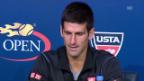 Video «Novak Djokovic über Stanislas Wawrinka (englisch)» abspielen