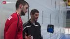 Video «Handball: Nati trainiert mit Weltklasse-Torhüter» abspielen