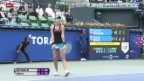 Video «Tennis: WTA Tokio, Halbfinal Bencic - Wozniacki» abspielen
