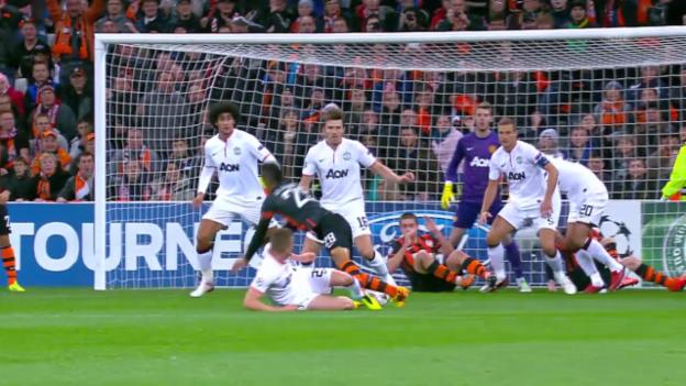 Video «Fussball: Schachtar Donezk - Manchester United» abspielen
