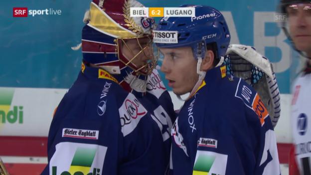 Video «Biel demütigt Lugano» abspielen