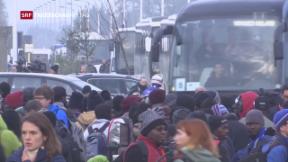 Video «Tausende verlassen Flüchtlingscamp in Calais» abspielen