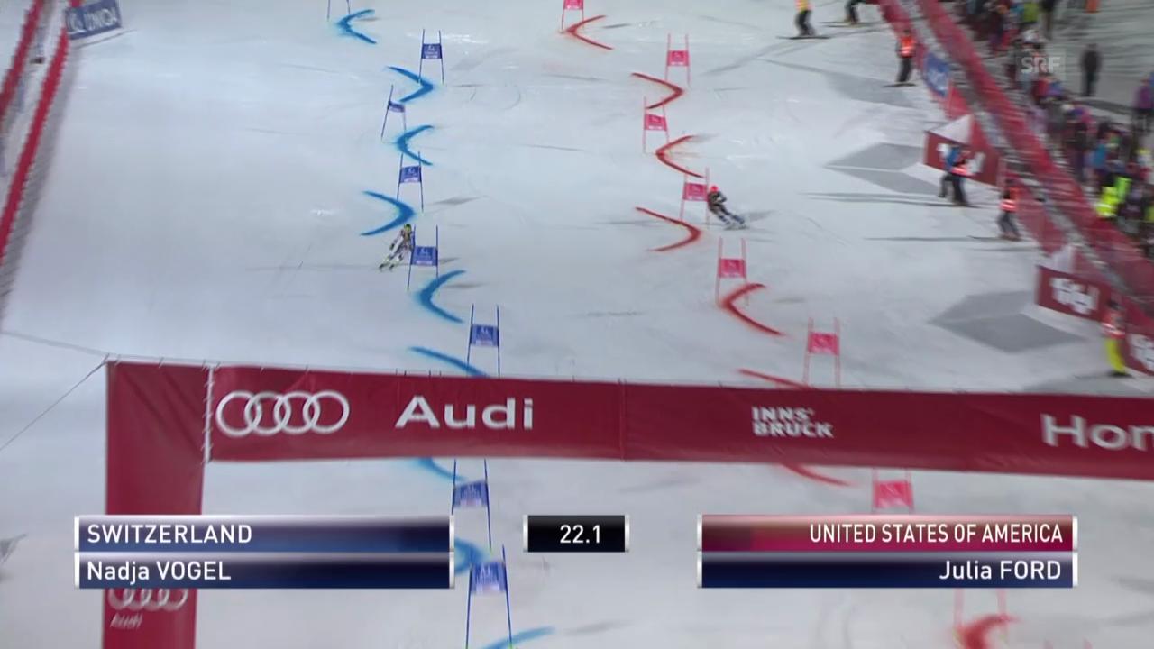 Ski: Team Event Innsbruck, kleiner Final Nadja Vogel - Julia Ford («sportlive», 25.02.2014)