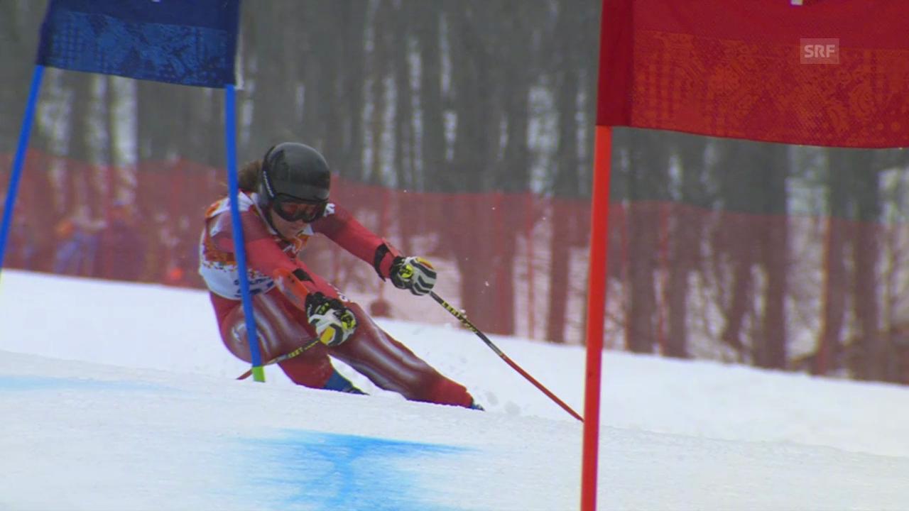 Ski: Riesenslalom Frauen, 2. Lauf Suter (sotschi direkt, 18.2.2014)