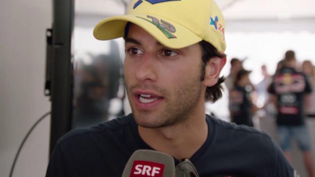 Video «Formel 1: Sauber-Pilot Felipe Nasr über seinen Erfolg in Australien und die schwierigen Verhältnisse in Malaysia» abspielen