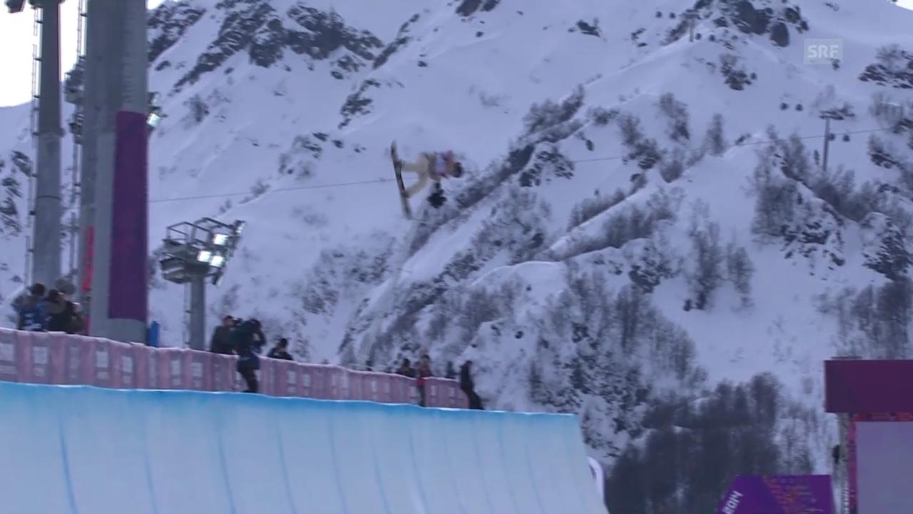 Snowboard: Qualifikation Halfpipe Frauen, Kelly Clark (sotschi direkt, 12.02.2014)