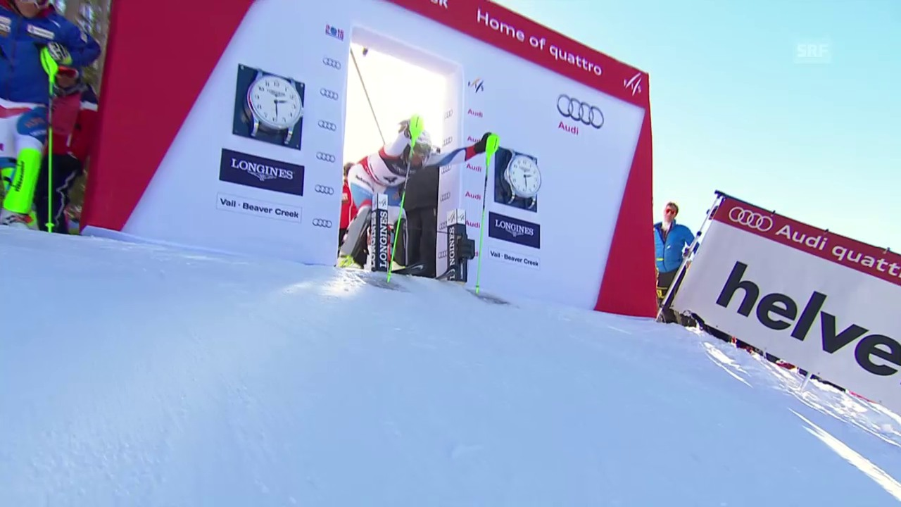 Ski: WM-Super-Kombi Männer, 2. Lauf Silvan Zurbriggen