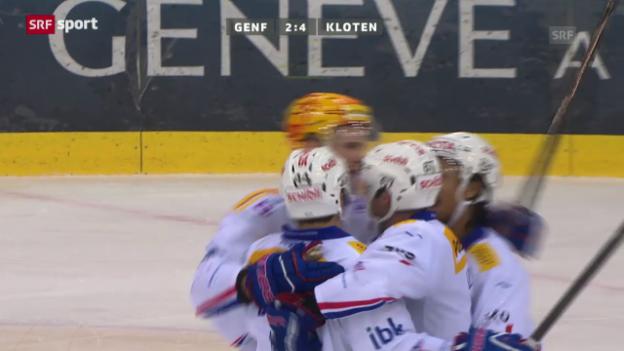 Video «Eishockey: Genf-Kloten («sportaktuell»)» abspielen