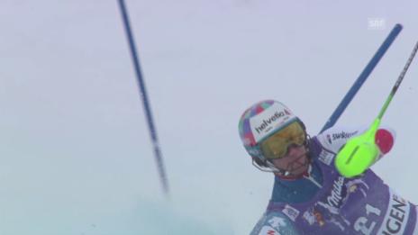 Video «Luca Aernis Kurzauftritt im 2. Lauf» abspielen