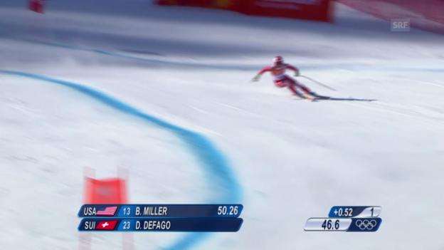 Video «Ski, Männer-Abfahrt, Training, Fahrt Défago» abspielen