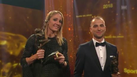 Link öffnet eine Lightbox. Video Ryf und Schurter räumen bei Sports Awards ab abspielen