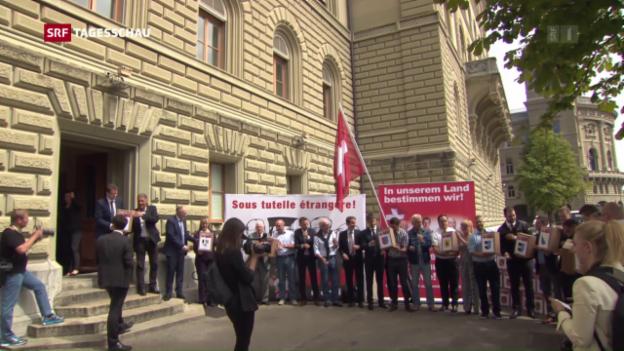 Video «SVP-Initiative: Keine fremden Richter» abspielen