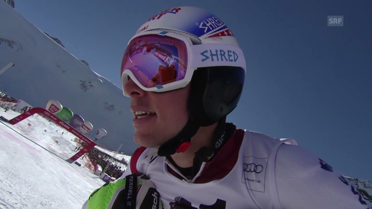 Ski: Riesenslalom Sölden, 2. Lauf Carlo Janka