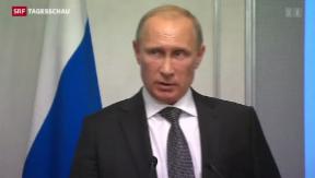 Video «Putin nährt Hoffnung auf Frieden» abspielen