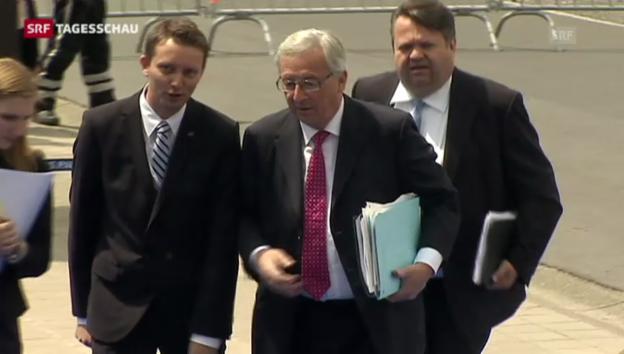 Video «Juncker nun doch Kandidat der EU-Staatschefs» abspielen