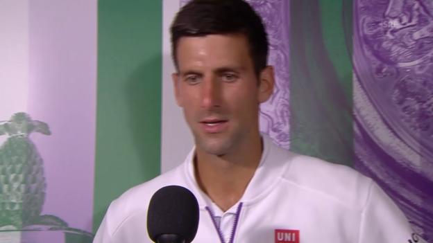 Video «Tennis: Wimbedon, Interview mit Novak Djokovic (Englisch)» abspielen