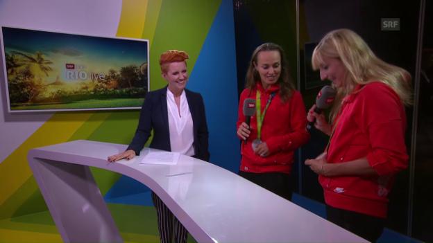 Video «Bacsinszky über ihre fehlerhafte Medaille» abspielen