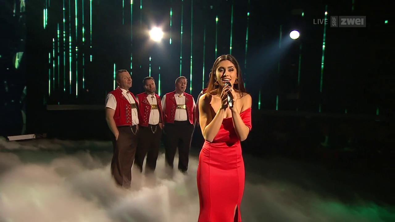 Showact: Leticia und Appenzeller Sängerfreunde mit «Amar Pelos Dois»