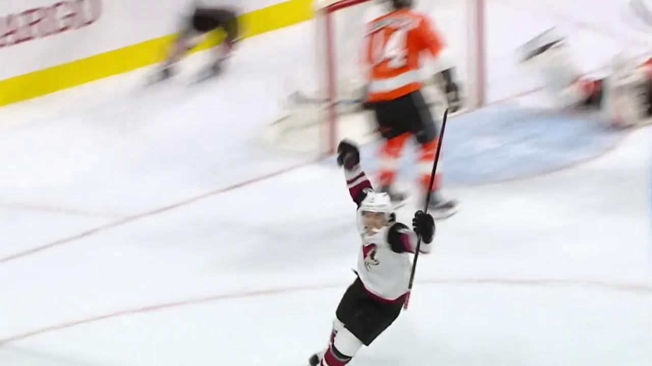 Das Overtime-Tor von Arizona gegen die Flyers