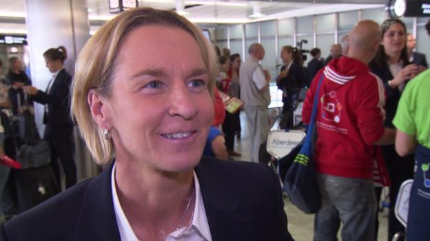 Video «Fussball: Frauen-Nati, Interview Voss-Tecklenburg» abspielen