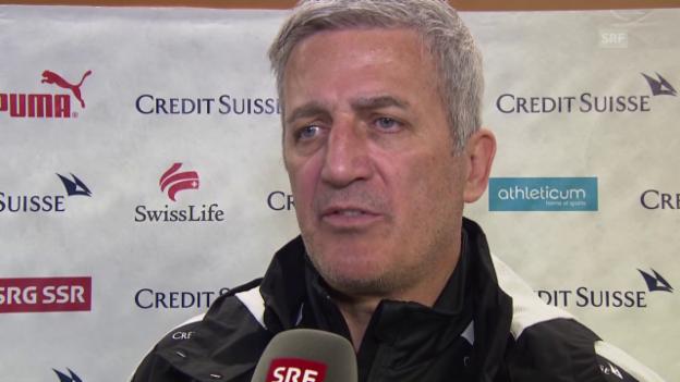 Video «Vladimir Petkovic vor dem Spiel gegen Bosnien-Herzegowina» abspielen