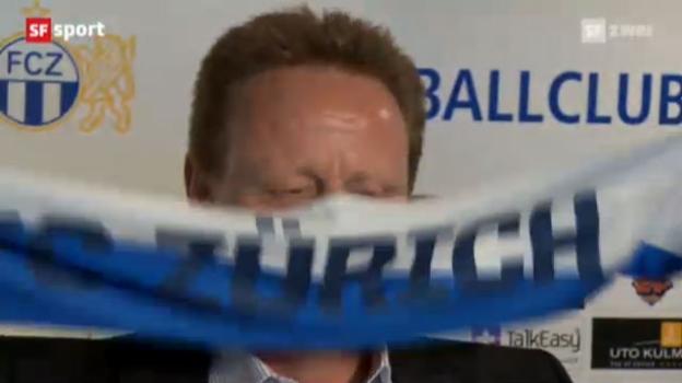 Video «Rückblick: FCZ präsentiert Rolf Fringer als neuen Trainer» abspielen
