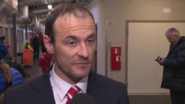 Video «Eishockey: WM Frauen, Gian-Marco Crameri vor dem Viertelfinal» abspielen