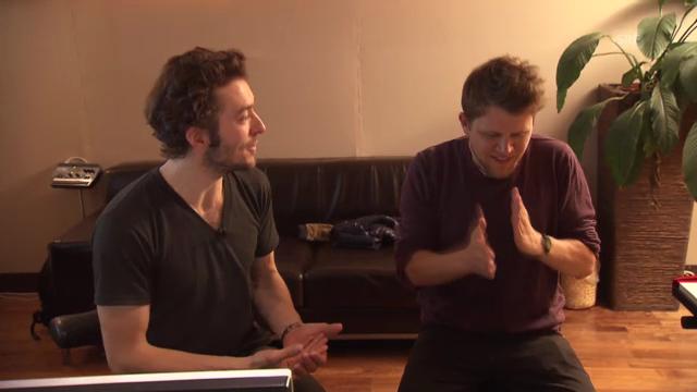 «Le Fred» und Knackeboul im Studio