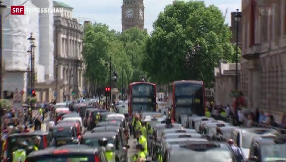 Taxifahrer-Protest in Europa gegen neue Fahrdienste
