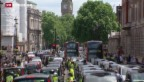 Video «Taxifahrer-Protest in Europa gegen neue Fahrdienste» abspielen