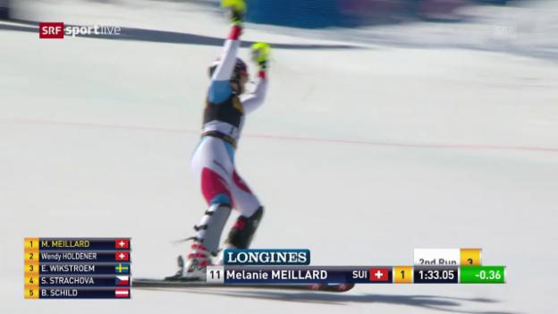 Video «Der starke 2. Lauf von Mélanie Meillard» abspielen