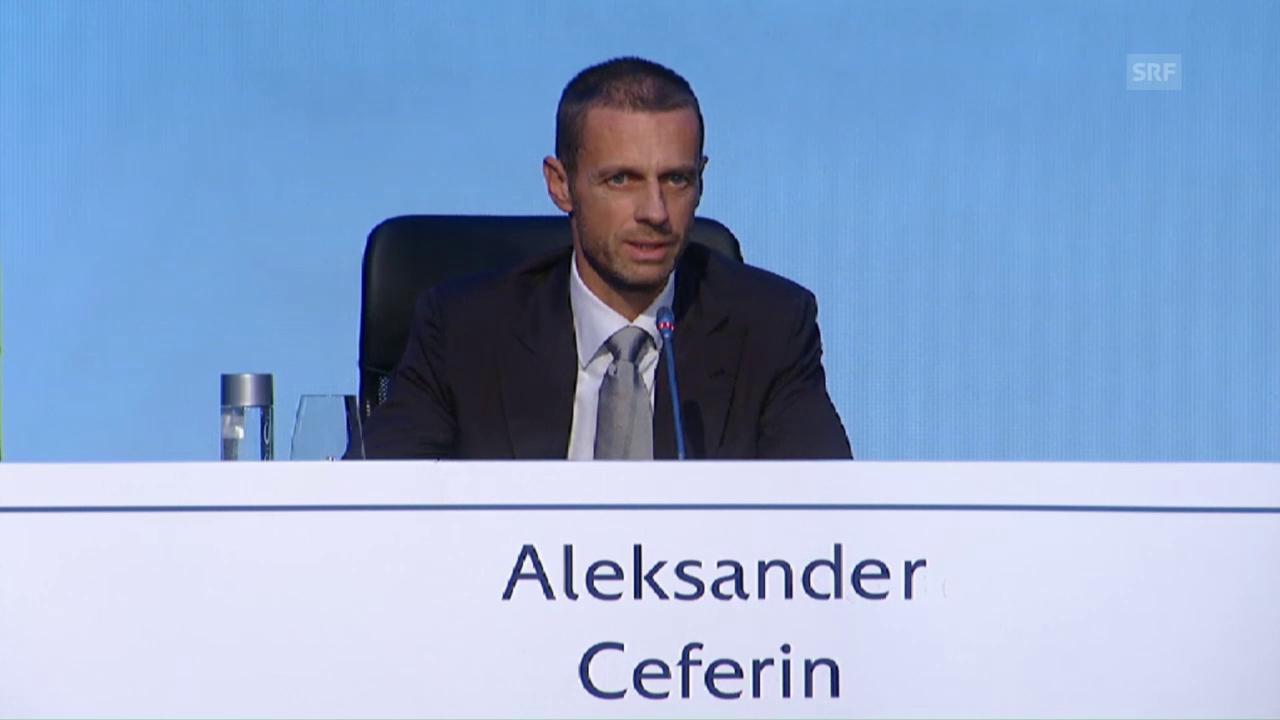 Das sagt der neue Uefa-Präsident nach seiner Wahl