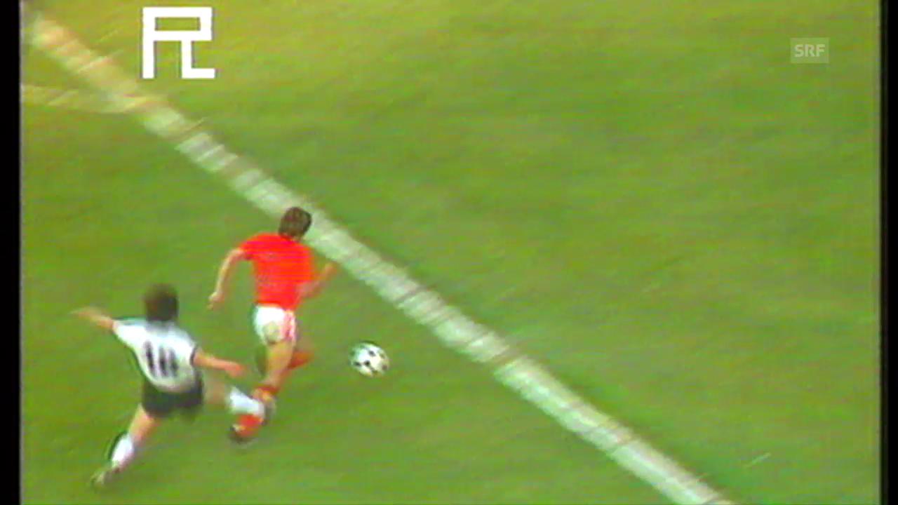 Matthäus' Foul nach 6 Länderspielminuten