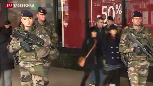 Video «Pariser Bevölkerung mit mulmigem Gefühl» abspielen