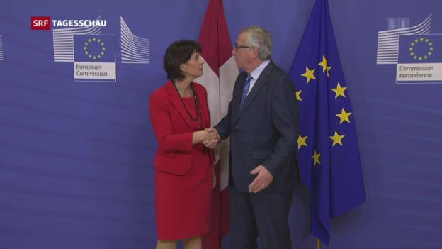 Video «Schweiz und EU kommen sich wieder näher» abspielen