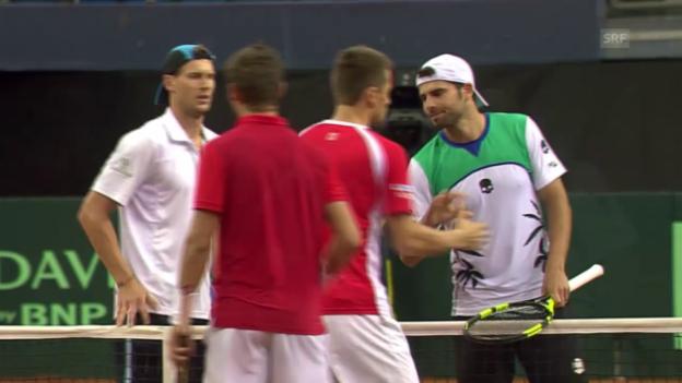 Video «Die Schweiz verliert im Davis Cup auch das Doppel» abspielen
