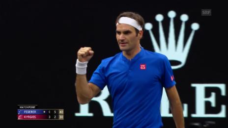 Link öffnet eine Lightbox. Video Federer lässt Kyrgios keine Chance abspielen