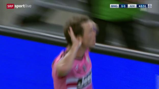 Video «Fussball: CL, Gladbach - Juventus, 1:1-Ausgleich Turin» abspielen