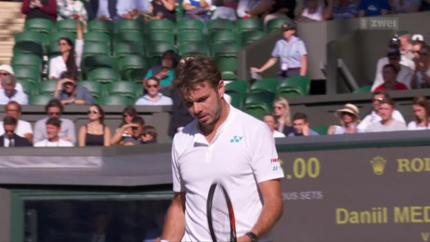 Video «Wawrinka scheitert in Wimbledon schon in der 1. Runde» abspielen